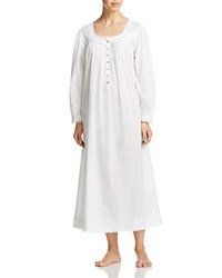 Eileen West Long Sleeve Ballet Nightgown Solid White