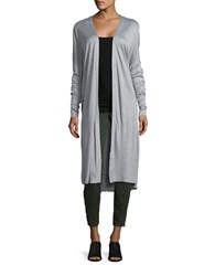 Bench Long Open Front Cardigan Grey Marled