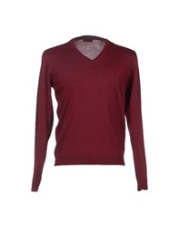 Private Lives Knitwear Jumpers Men Maroon