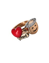 Bcbgeneration Emoji Cubic Zirconia Accented Stackable Ring Set Gold