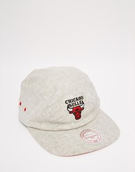 Mitchell And Ness 2 Panel Military Chicago Bulls Snapback Cap Grey