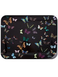 Fornasetti 'Butterfly's On Black' Tray