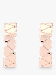 Ted Baker Harleen Heart To Heart Hoop Earrings Rose Gold