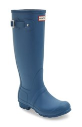 Hunter Women's 'Original Tall' Rain Boot Dark Earth Blue