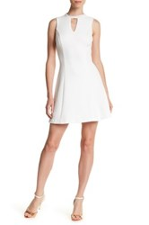 Guess Embellished Beaded Crew Neck Dress White