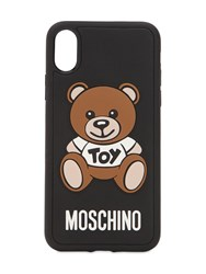 Moschino Teddy Printed Iphone X Xs Cover Black