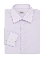 Brioni Cotton Dress Shirt Lavender