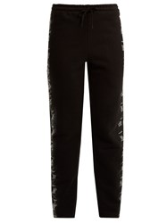 Vetements Tape Trimmed Jersey Track Pants Black