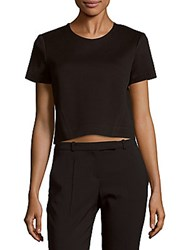 Zac Posen Solid Cropped Top Black