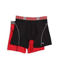Adidas Sport Performance Climacool 2 Pack Boxer Brief Black Grey Real Red Black Men's Underwear
