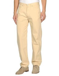 Cotton Belt Casual Pants Light Yellow