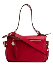 Red Valentino Eyelet Detail Tote Red