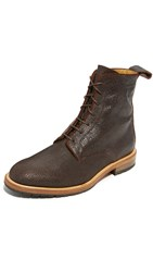 Billy Reid Anderson Lace Up Boots Dark Brown