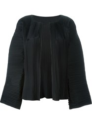 Sofie D'hoore 'Blossom' Wide Sleeve Pleated Cropped Jacket Black