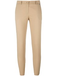 Twin Set Cropped Trousers Brown