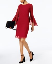 Inc International Concepts I.N.C. Petite Bell Sleeve Shift Dress Created For Macy's Real Red