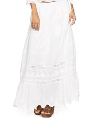 Denim And Supply Ralph Lauren Embroidered Cotton Maxi Skirt
