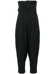 Y 3 High Waisted Trouser Jumpsuit Black