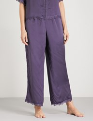 Nk Imode Ulrika Silk Satin Pyjama Bottoms Ink