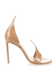 Francesco Russo Open Toe Lizard Skin Sandals