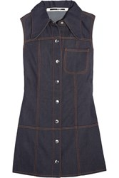 Mcq By Alexander Mcqueen Marianne Denim Mini Dress Dark Denim
