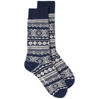 Barbour Onso Fair Isle Sock Blue