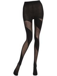 Emilio Cavallini Warp Around Stripes Microfiber Tights
