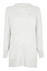 Topshop Maternity Cut Out Back Jumper Grey
