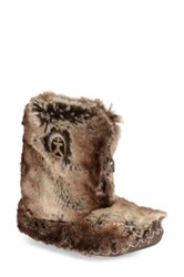 Bedroom Athletics 'Cole' Faux Fur Slipper Boot Women Brown