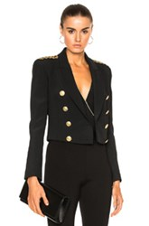 Balmain Pierre Cropped Blazer In Black