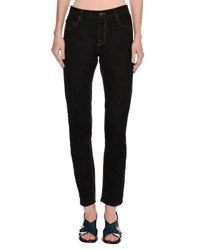 Tomas Maier Classic Mid Rise Straight Leg Jeans Navy