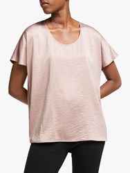 Eileen Fisher Recycled Polyester Box Top Sugar Plum