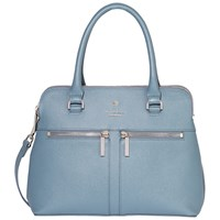 Modalu Pippa Small Leather Grab Bag Slate Blue