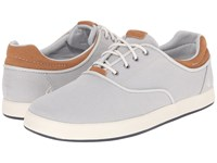 Olukai Makani Lace Up Blue Fog Mustard Men's Shoes Gray