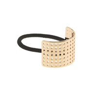 J.Crew Curved Metal Perforated Hair Band Metallic Gold