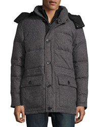 Vince Camuto Flannel Down Parka Grey