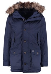 Abercrombie And Fitch Core Winter Coat Navy Blue