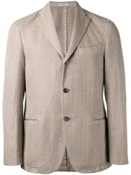 Boglioli Three Button Blazer Nude Neutrals
