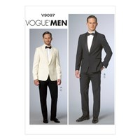 Vogue Men's Tailored Trousers And Jacket Suit Sewing Pattern 9097