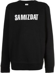 Yang Li Logo Crewneck Sweater Black
