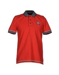 Napapijri Topwear Polo Shirts Men Red