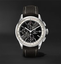 Breitling Premier Chronograph 42Mm Stainless Steel And Nubuck Watch Ref. No. A13315351b1x1 Black