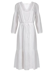 Etoile Isabel Marant Dorset Chic Linen Dress White