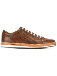 Canali Perforated Sneakers Brown