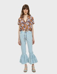 Farrow Scala Raw Edge Flounce Jean Denim