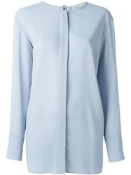 Nina Ricci Concealed Buttons Shirt Blue