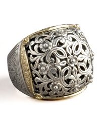 Silver And Gold Dome Ring Konstantino