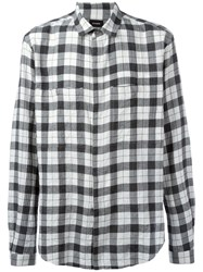 Stampd Checked Shirt Grey