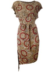 Vivienne Westwood Anglomania Leopard Print Belted Dress