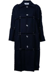 Julien David Detailed Mid Coat Black